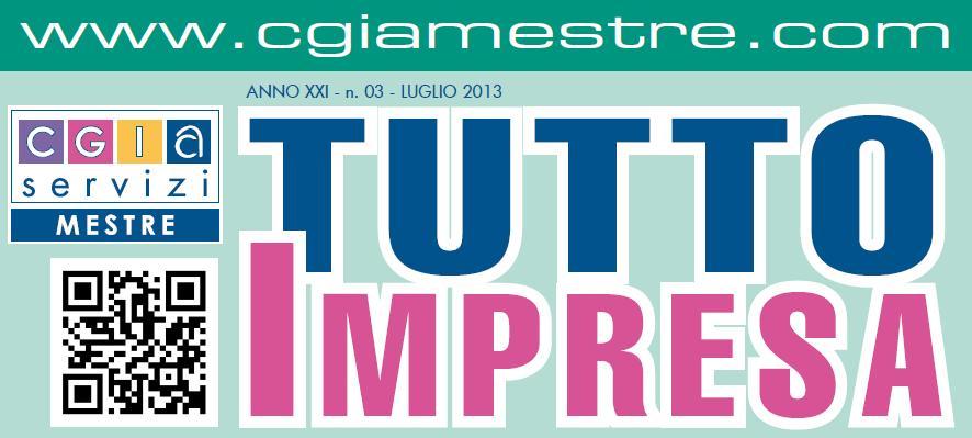 """Arriva """"Tutto Impresa"""" ed. Luglio 2013"""