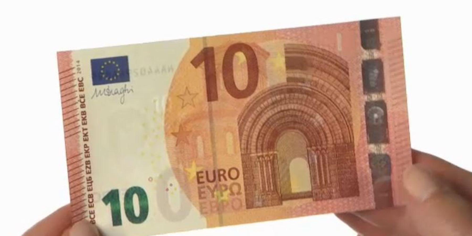 NUOVA BANCONOTA DA 10 EURO. E' entrata in vigore. Renderà la vita più difficile ai falsari