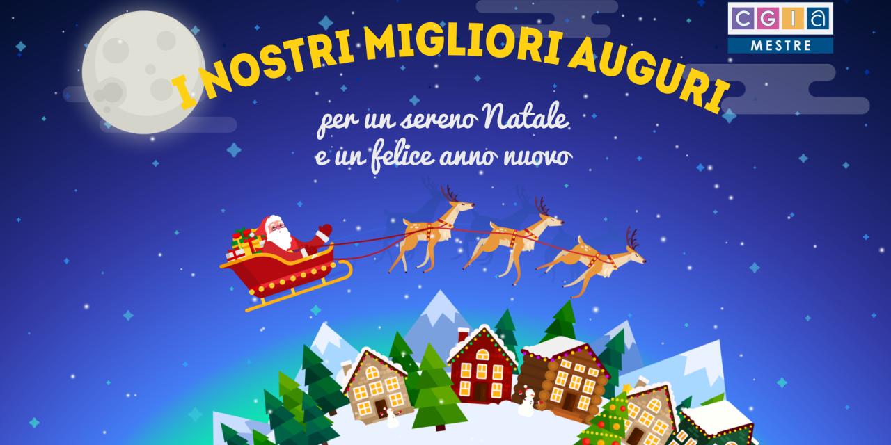 Buon Natale e Felice Anno Nuovo da tutto lo staff della CGIA