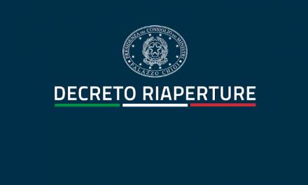 NUOVO DECRETO RIAPERTURE