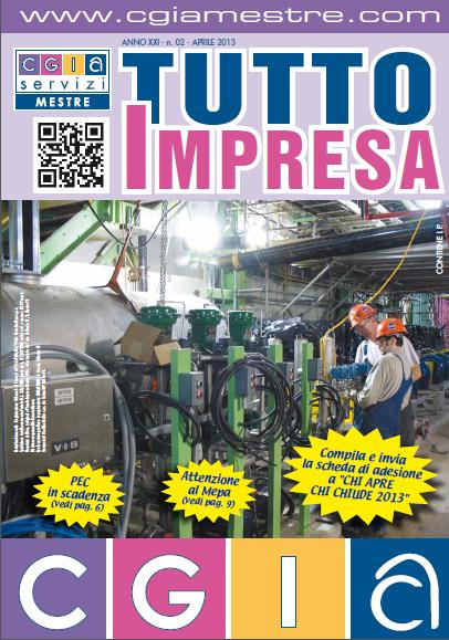 "Arriva ""Tutto Impresa"" ed. Aprile 2013"