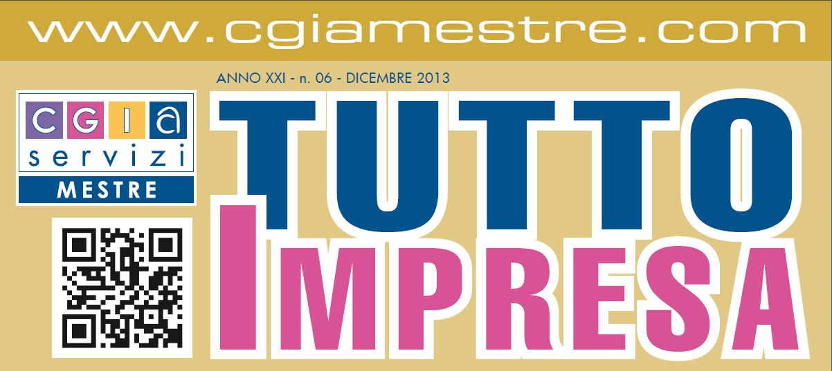 """Arriva """"Tutto Impresa"""" ed. Dicembre 2013"""