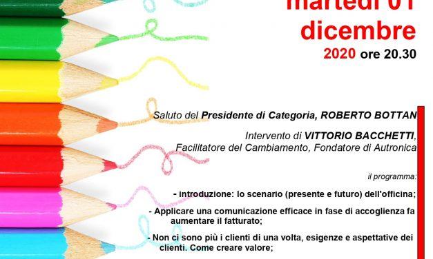 INCONTRO on line COMPARTO AUTO – 1 DICEMBRE 2020
