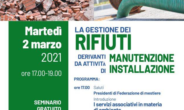 LA GESTIONE DEI RIFIUTI DA MANUTENZIONE E INSTALLAZIONE-02/01/21