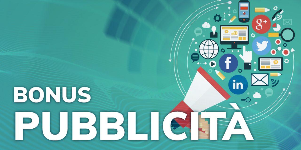 BONUS PUBBLICITÀ 2021: VIA ALLE PRENOTAZIONI DAL 1/10/2021